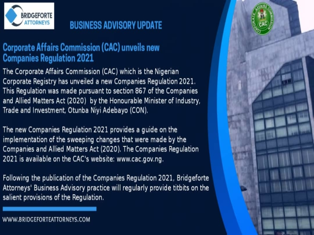Business Advisory update on the latest developments at the Corporate Affairs Commission